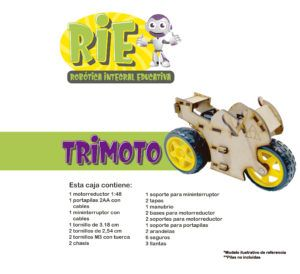 Proyecto RIE. Robótica Integral Educativa. Trimoto